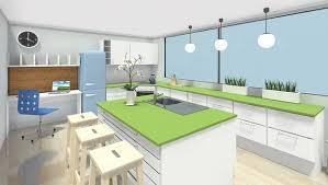 Kitchen Design Graph Paper Style Simple Decoration