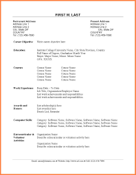 Sample Resume For Management Accounting Graduate Best Sample Resume
