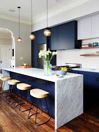 modern kitchen colors 2017. A Bonus To Love A Color, Blue, That Is Also Trending..a Block Of Color  Easy Change...The Classic Kitchen Color Trend That\u0027s Instagram-Approved Modern Kitchen Colors 2017 O