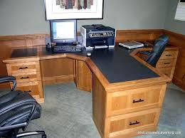 cherry custom home office desk. Custom Ikea Desk Home Office Ideas For Two Cherry Partner Person Made