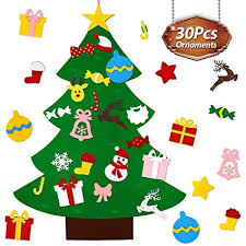 Kids DIY Christmas Felt Tree with <b>30pcs</b> Christmas <b>Pendant</b>, 2019 ...