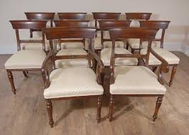 Regency Dining Chairs English Mahogany Trafalgar Chair Ebay