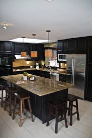 Tile Floors For Kitchen 52 Dark Kitchens With Dark Wood And Black Kitchen Cabinets
