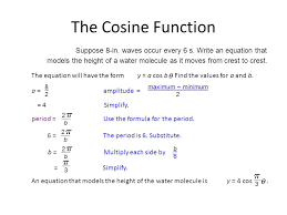 the cosine function