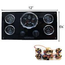 caterpillar engine panels ac dc marine inc black caterpillar marine engine instrument panel black gauges