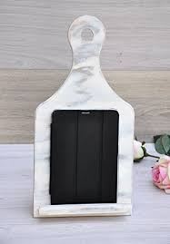 shabby chic wood ipad stand ipad stand holder wooden kitchen recipe book stand ipad kitchen stand