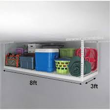 saferacks 3 ft x 8 overhead garage storage rack and accessories