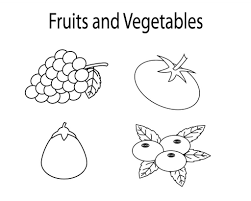 Fruit colouring pages for kids. Printable Fruit And Vegetable Coloring Pages Vegetable Coloring Pages Coloring Pages For Kids Coloring Pages