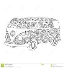 Bus Dannata Di Hippy Per Ladulto O Il Libro Da Colorare Dei