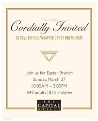 easter sunday brunch at the capital grille