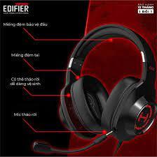 Tai nghe gaming 7.1 EDIFIER G2 II Bản quốc tế mới nhất - Hỗ trợ Mic chống ồn  - Âm thanh giảm lập 7.1 - chính hãng | Tai Nghe Bluetooth Chụp Tai Over-Ear