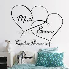 impressive wall writing decor hot hearts customizable removable shelf art characters vinyl pvc decal sticker mural
