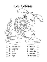 Spanish Easter Coloring Pages Wwwpicturessocom