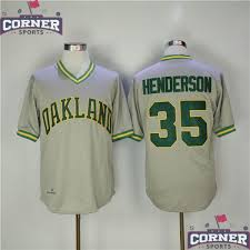 Jersey 35 Rickey Mlb Oakland Athletics Jerseys Throwback Gris Henderson Baseball fceffeeaf|The Buffalo News