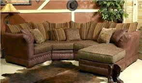 contemporary rustic leather reclining sectional
