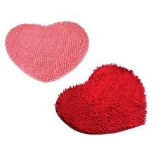50 60cm soft gy non slip absorbent heart shaped bath mat bathroom shower rugs