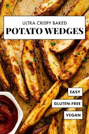 Ultra Crispy Baked Potato Wedges - Cookie and Kate   Recipe   Potato wedges  baked, Crispy baked potatoes, Crispy baked potato wedges