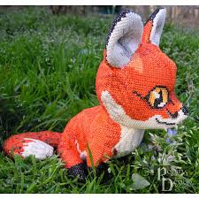 Animal Sewing Patterns Stunning Red Fox Doll 48D Cross Stitch Animal Sewing Pattern PDF