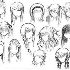 anime hairstyles for girls sketch. Drawing Anime Hairstyles Girl Hair Drawings For Girls Sketch