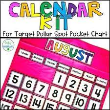 Pocket Chart Calendar Inserts Target Calendar Cards Worksheets Teaching Resources Tpt