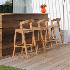 contemporary outdoor bar stools wooden