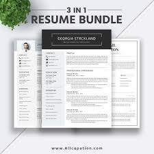 2019 Best Selling Resume Bundle The Georgia Rb Simple Resume Format Modern Cv Bundle Word Resume Cover Letter Professional Resume Design Instant