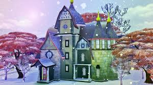 Whimsical <b>Winter Fantasy Castle</b> | The Sims <b>4</b> Speed Build Collab ...