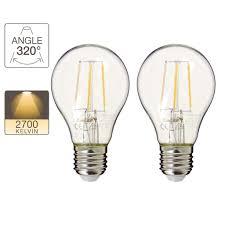Set Of 2 A60 Led Light Bulbs E27 Base Retro Led Xanlite Store