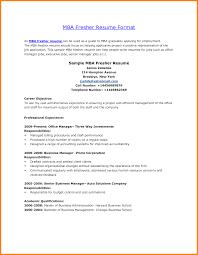 Prepossessing Mba Fresher Resume Sample In Resume Title Examples
