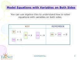 confidential 3 model equations with variables on both sides you can use algebra tiles to understand