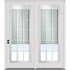 mmi door 72 in x 80 in clear glass internal blinds grilles primed