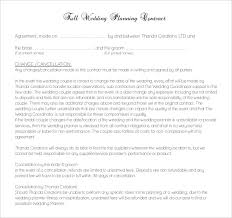 wedding planning contract templates 20 wedding contract templates free sample example format