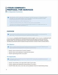 Ms Office Proposal Template Services Proposal Business Blue Design