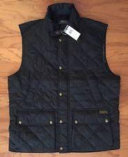 Polo Ralph Lauren Nylon Big & Tall Vests for Men | eBay & NWT $275 POLO RALPH LAUREN Men's Black Diamond Quilted Vest Fully Lined  Size LT Adamdwight.com