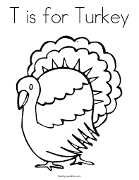 Small Picture T is for Turkey Coloring Page Twisty Noodle