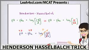 Henderson Hasselbalch Henderson Hasselbalch Mcat Trick For Buffer Ph Without A Calculator