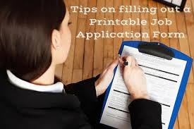 Tips On Filling Out A Printable Job Application Form Hired Philippines