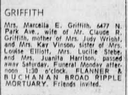 Marcella Griffith obit - Newspapers.com