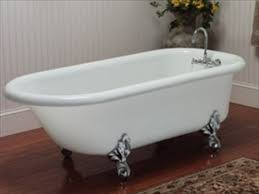 porcelain enamel finished cast iron bathtubs and sinks are normally found today with the some of the original enameled finish in poor often etched