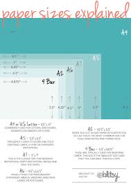 Paper Size Chart For Crafters Paper Sizes Chart Greeting
