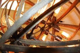 metal sphere chandelier industrial sphere chandelier metal strap globe hanging light diy metal sphere chandelier