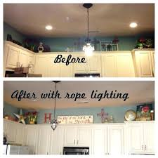 lighting above kitchen cabinets. Above Cabinet Rope Lighting The Kitchen Cabinets Diy Under L