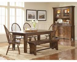Broyhill Attic Heirloom Dining Table Attic Heirlooms Rustic Oak Rectangular Leg Table Dining Set By