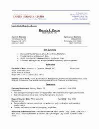 Noc Resume Sample Best Of Job Experience High School Resume Sample
