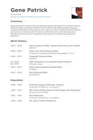 Senior Producer Resume Samples Visualcv Resume Samples Database