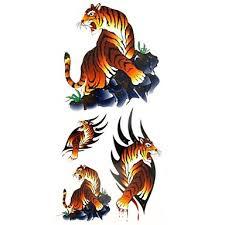 069 1ks Zvířecí Série Krev Tygr Vodotěsný Body Art Tattoo Vzor Dočasné Tetování Nálepka 185 Cm 85 Cm
