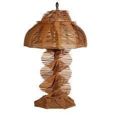 folk art popsicle stick table lamp for
