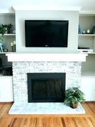 refacing brick fireplace with tile tile over brick fireplace tile over brick fireplace how to whitewash