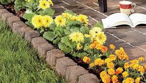 garden edging stone. Create A Border Using Edging Stones Garden Lowes Stone
