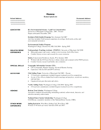 Activities Resume Template For College Application Resume Activities